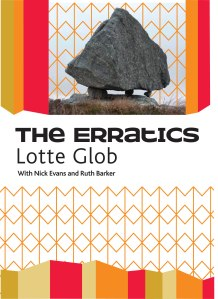'The Erratics', invite card. Design: Sarah Tripp