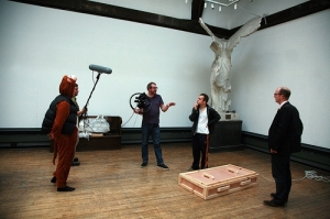 Filming of 'Magic Towards Your Face', Henry Coombes, Mackintosh Museum, GSA (2010) Photo: Janet Wilson