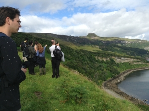 Group visit to Hallaig, 'Convocation: Colm Cille's Spiral Residency' (2013)