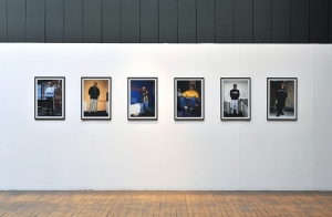 12 photographs of first generation refugees living in Copenhagen,' light jet prints on photographic paper, Jens Haaning, 2000, 'Living Today' (2011), GSA Glasgow