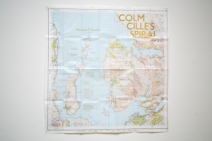 'Map of a Convocation: Raasay', Edwin Pickstone (2013). Letterpress print (gold) on Ordnance Survey map
