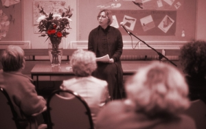 'Romantic Vanguard', talk and workshop with Mills & Boon author Jessica Hart in Blackhill, Glasgow (2001)