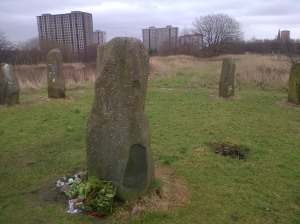 Sighthill Standing Stones, Glasgow. Photo: Jenny Brownrigg