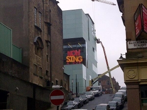 'NOW SING', Michael Stumpf (2014). View from Sauchiehall Street, Glasgow Photo: James Dean