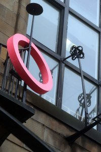 'Ring', Michael Stumpf (2014). Cast acrylic resin. Mackintosh Building, Director's Balcony, GSA. Photo: Janet Wilson.