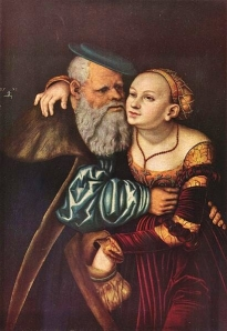 'The Ill-matched Lovers', Lucas Cranach the Elder, (1531) Tempera on wood. Akademie der bildenden Künste, Vienna http://www.wga.hu/html_m/c/cranach/lucas_e/14/index.html