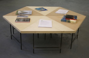 'Shodhan Hex Table' (2015), Colin Lindsay. 'Building Echoes' (2015), Interview Room 11, Edinburgh. Photo: Colin Lindsay