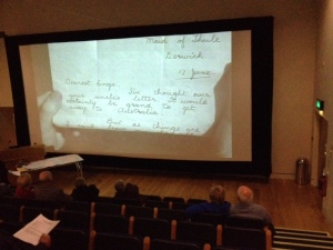 Screening of 'Rugged Island' (1932) at Shetland Museum and Archive. Photo: Joanne Jamieson
