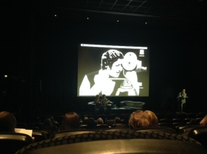 'Real Illuminators' logo, designer Bryn Houghton, at 'Doing Women's Film and Television Histories III: Structures of Feeling' conference, Leicester, 2016