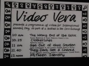 Slide from Dr Kate Dossett's presentation, image 'Vera Media'