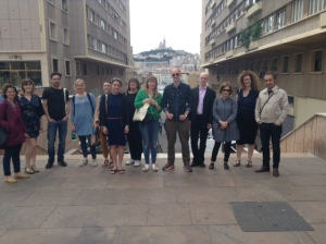The visiting group from Scotland to Marseille