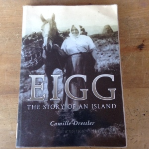 MEM Donaldson's photograph of Ishbel MacQuarrie features on the cover of Camille Dressler's book 'Eigg, The Story of an Island'