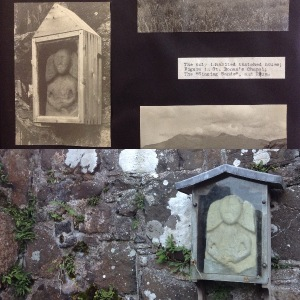 (t) detail from Violet Banks' photograph album, Royal Commission of Ancient & Historic Monuments Scotland Ref: PA244 (b) Photo: Jenny Brownrigg (2016)