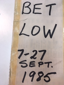 Bet Low, from CCA Glasgow archive